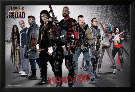 Suicide Squad- Armed & Ready Poster con cornice e pellicola protettiva