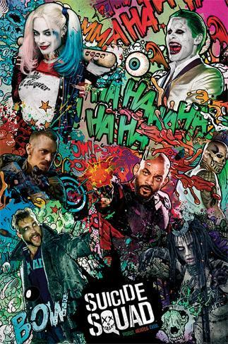 Suicide Squad- Crazy Collage Poster