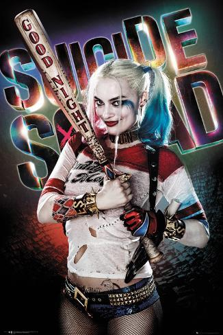 Harley Quinn Poster Suicide Squad Margot Robbie Art FREE P+P CHOOSE YOUR SIZE