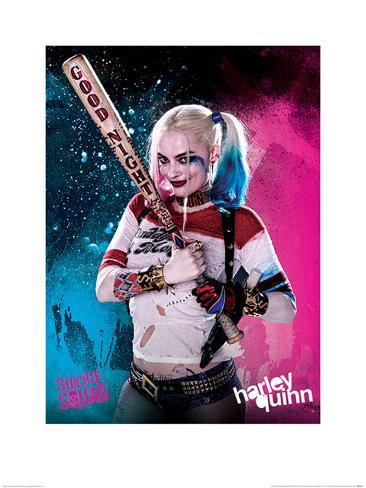 Suicide Squad- Harley Quinn Good Night Art Print