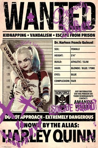 Suicide Squad- Harley Wanted Poster