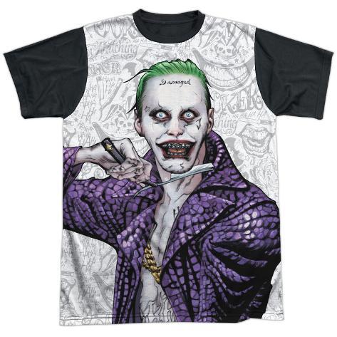 Suicide Squad- Joker Close Shave Etches (Black Back) Sublimated