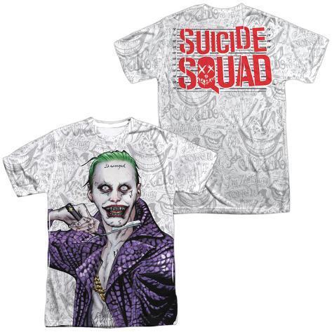 Suicide Squad- Joker Close Shave Etches (Front/Back) Sublimated