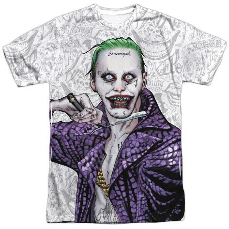 Suicide Squad- Joker Close Shave Etches Sublimated