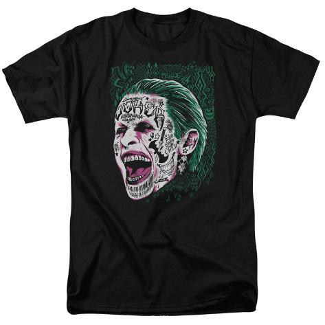Suicide Squad- Joker Tattoo Headshot T-Shirt