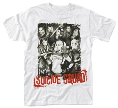 Suicide Squad- Red Logo Portrait T-paita