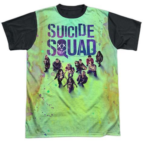 Suicide Squad- Stained Poster (Black Back) Sublimated