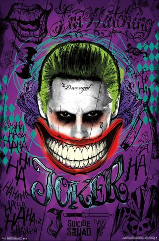 Suicide Squad- The Joker Is Watching Pôster