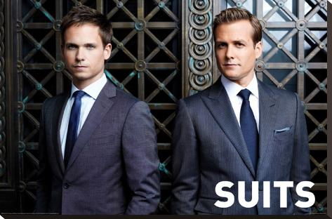 Suits Stretched Canvas Print