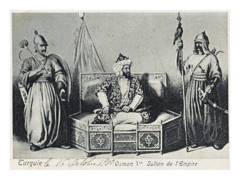 Sultan Osman I (1300 - 1326). First of the Ottoman Dynasty Stampa giclée
