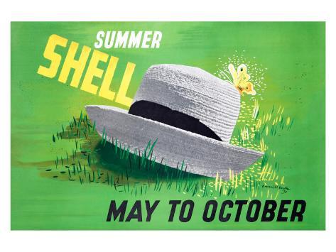 Summer Shell Stampa giclée