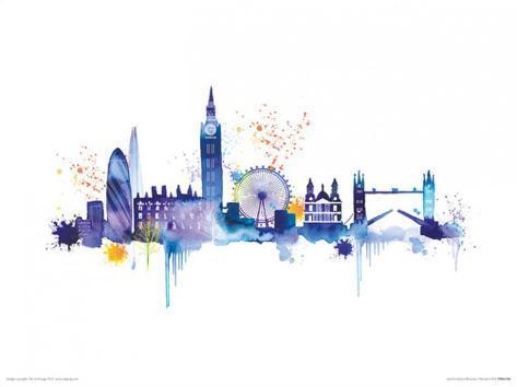 london skyline prints by summer thornton. Black Bedroom Furniture Sets. Home Design Ideas