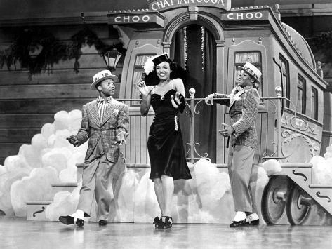 Sun Valley Serenade, Nicholas Brothers, Dorothy Dandridge, 1941, 'Chatanooga Choo Choo.' Photo
