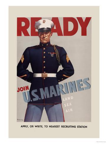Join U.S. Marines Art Print