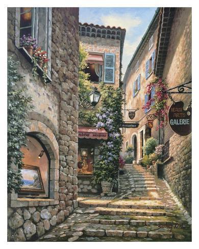 Gallery Steps Art Print