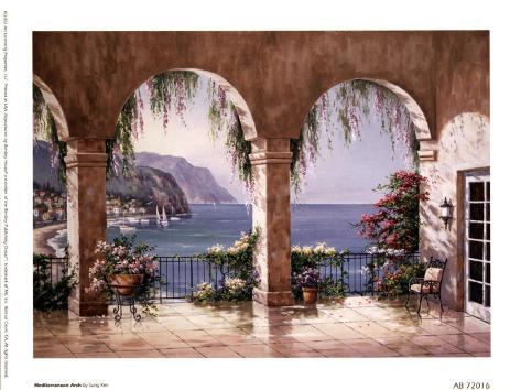 Mediterranean Arch Art Print