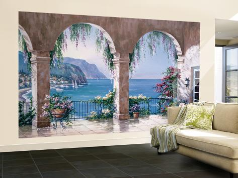 Sung Kim Mediterranean Arch Mural de papel de parede