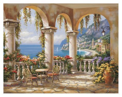 Terrace Arch I Art Print