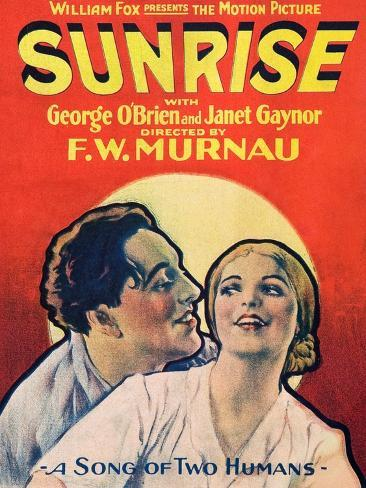 SUNRISE (aka SUNRISE: A SONG OF TWO HUMANS); from left: George O'Brien Art Print