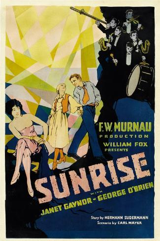 SUNRISE (aka 'SUNRISE: A SONG OF TWO HUMANS'); in foreground Art Print