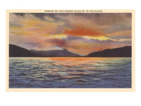 Sunrise on Lake George, New York Art Print