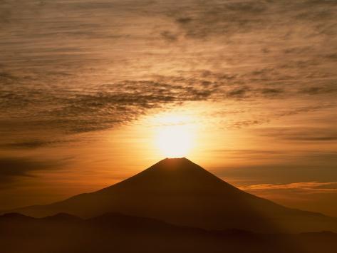Sunrise Over Mt. Fuji Photographic Print