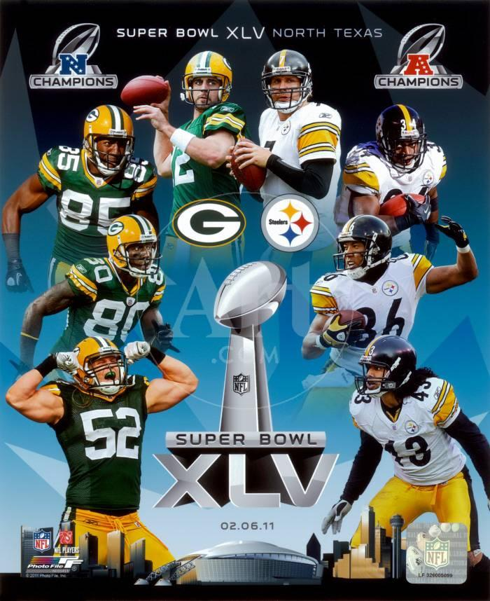 Super Bowl 45 Match-Up Composite Green Bay Packers Vs. Pittsburgh ...