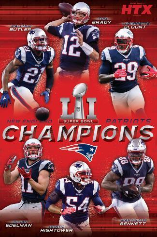 Super Bowl LI - Champions Poster
