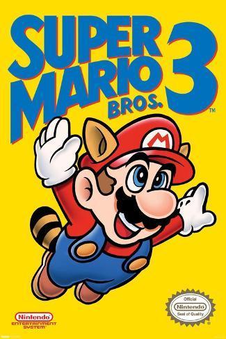 Super Mario Bros. 3 - Cover Poster