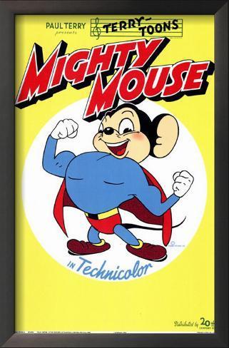 Super Mouse Impressão artística emoldurada