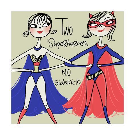 Superhero Friends Art Print