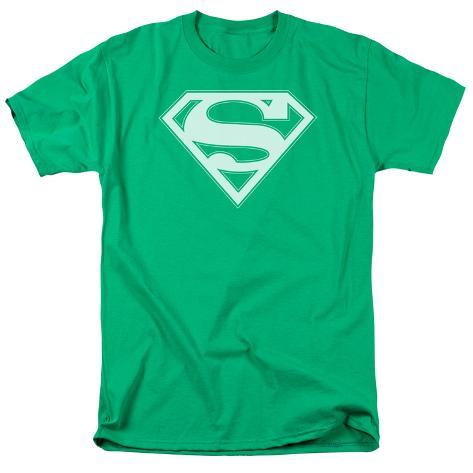 Superman - Green & White Shield T-Shirt