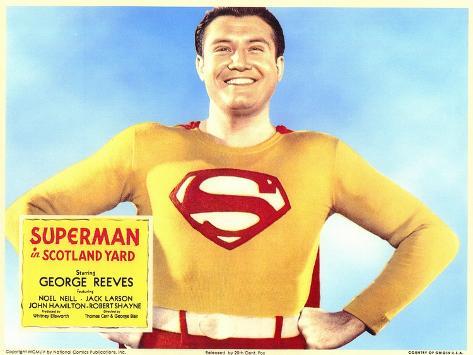 Superman in Scotland Yard, 1954 Art Print
