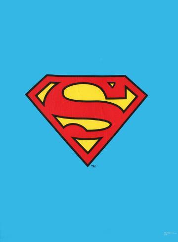 Superman Logo Fabric Poster