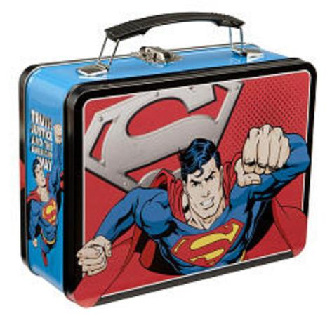 Superman Man of Steel Large Tin Lunch Box Lunch Box