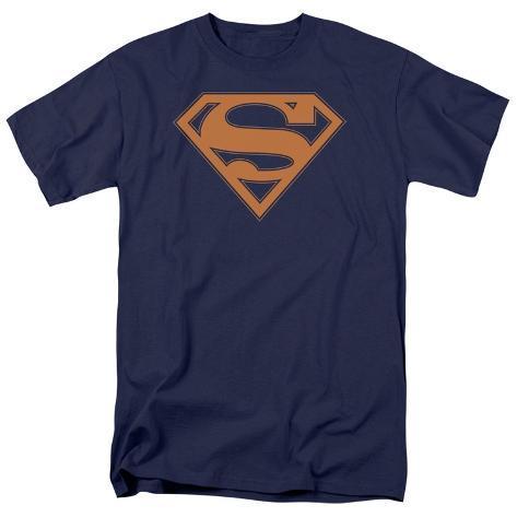 Superman - Navy & Orange Shield T-Shirt
