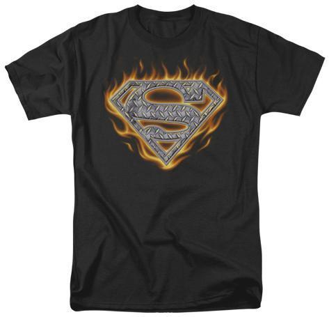 Superman - Steel Fire Shield T-Shirt