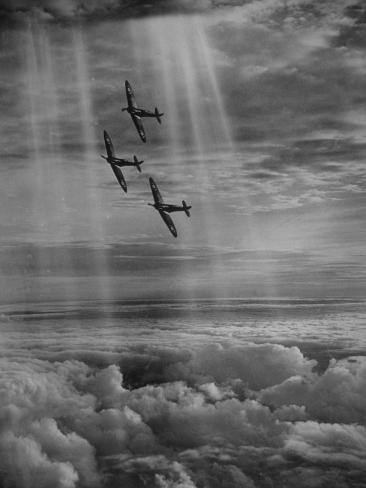 Supermarine Spitfire Stretched Canvas Print