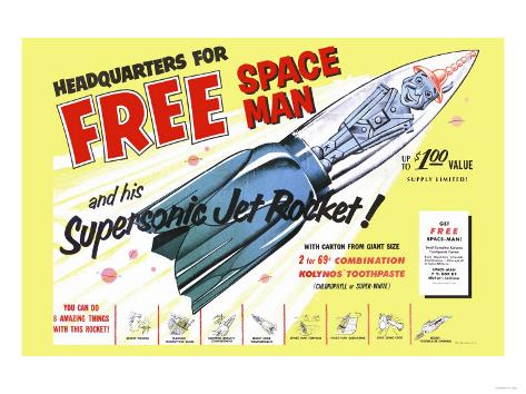 Supersonic Jet Rocket Art Print