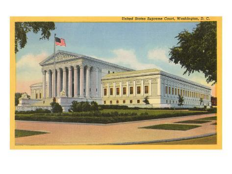 Supreme Court, Washington D.C. Art Print