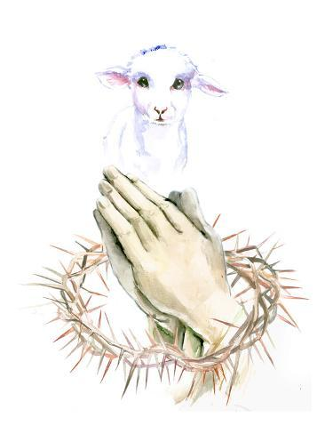 Lamb Pray Lámina