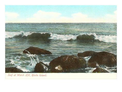 Surf at Watch Hill, Rhode Island Art Print