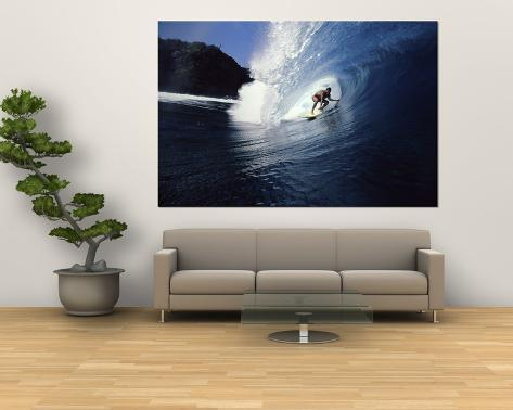 Surfer Riding a Wave Giant Art Print