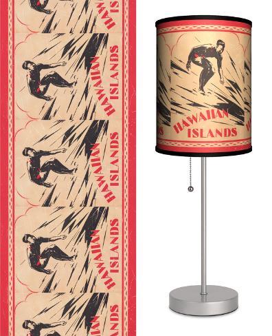 Surfing Hawaiian Islands - Table Lamp Table Lamp
