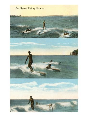 Surfing Scenes, Hawaii Art Print