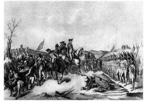 Surrender of Hessian Troops to Washington (After Battle of Trenton) Art Poster Print Poster