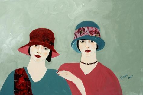 1920s Ladies in Burgundy 2015 Giclee Print