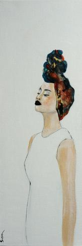 African Woman with Colourful Headdress, (1) 2016 Giclee Print