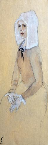 Flemish Girl in White Bonnet, 2016 Giclee Print