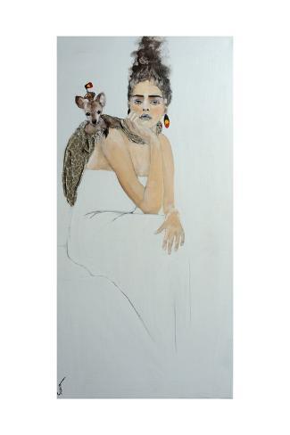 Indigenous Australian Woman with Joey, 2016 Giclee Print